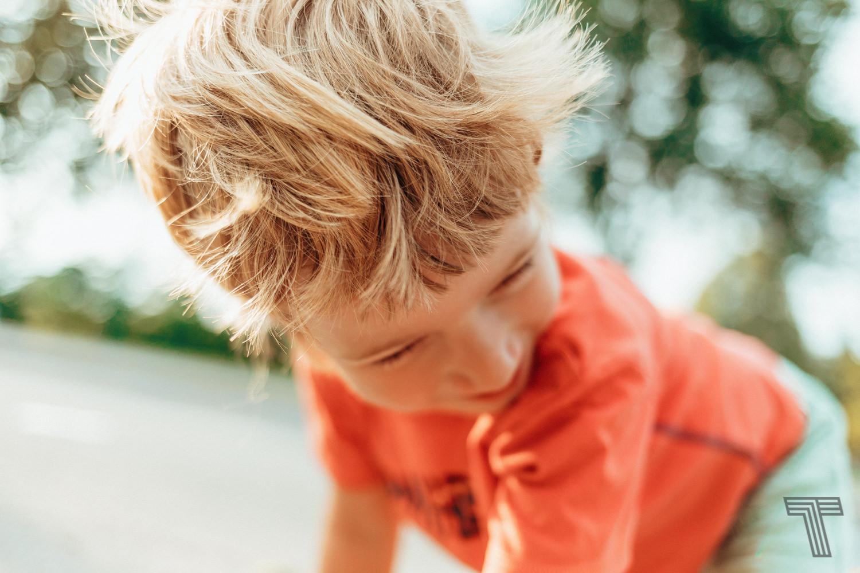 cute boy looking back