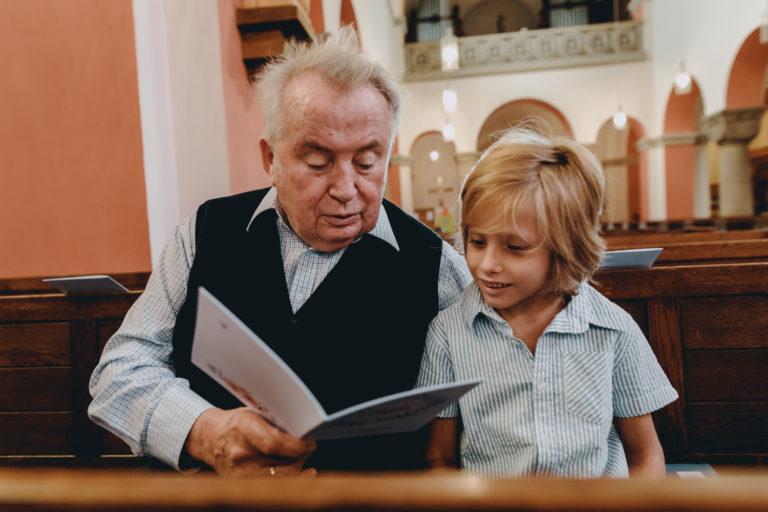 grand father and grand son