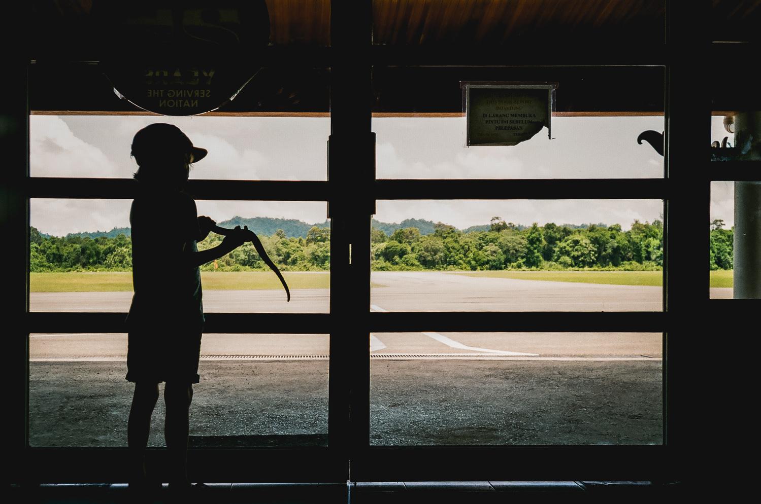 boy at mulu airport